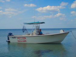 Fins-N-Grins Charter Fishing Boat - 2005 25 ft. Parker SE - side view
