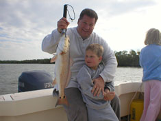 Red fish caught on a recent (November 2006) Fins N Grins Marco Island Charter Fishing Trip
