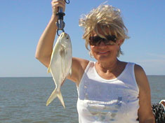 Pompano, caught while on the family fishing trip - Marco Island Fishing Charters
