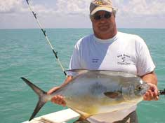 18 lb Permit caught while fishing a near shore wreck in the Gulf of Mexico - Marco Island Fishing Charters