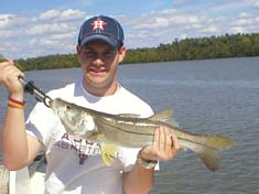 Snook caught while throwing top water plugs