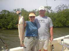 Nice Red Fish caught while on a back water fishing trip with Fins-N-Grins Charter Fishing Marco Island